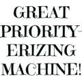 Priority erizing machine