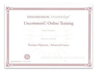 Image of Precision Hypnosis course online certificate