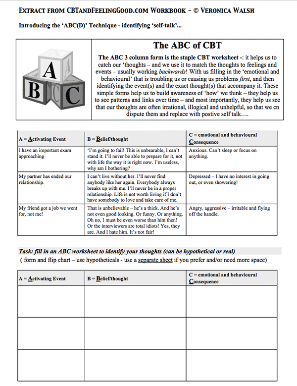 Worksheets Cognitive Distortion Worksheet top 10 cbt worksheets websites veronica walsh