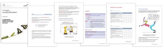 10 Steps to Solid Self Esteem self-help workbook