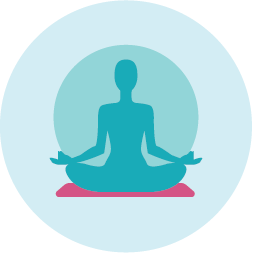 Relaxation and mindfulness icon