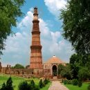 The beautiful religious buildings of the Qutub Minar, Delhi