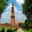 The beautiful religious buildings of the Qutub Minar, Delhi