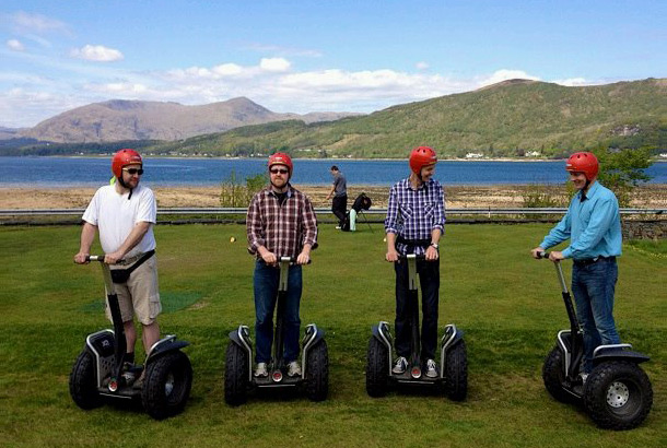Playing on Segways