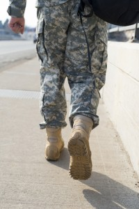 Soldier walking
